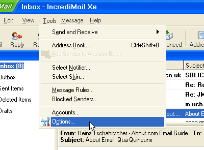 Locate IncrediMail Message Store