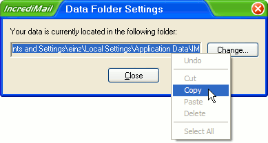 Location of IncrediMail IMM Files