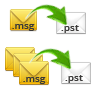 Multiple MSG files Folders into PST