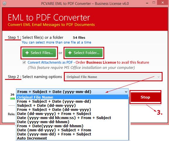 PCVARE EML to PDF Converter
