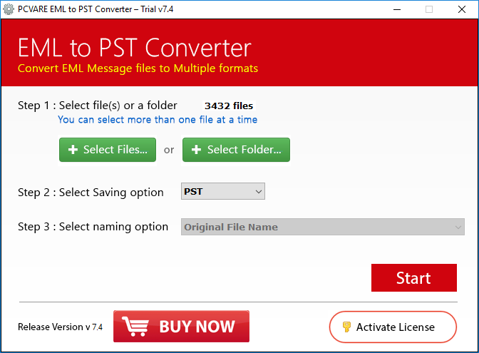 PCVARE EML to PST Converter