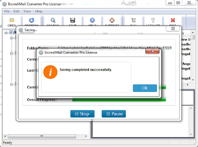 Complete Conversion for IncrediMail to Exchange Server & Outlook