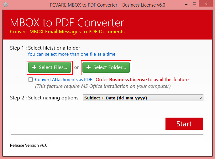 Print MBOX File to PDF 6.3.1