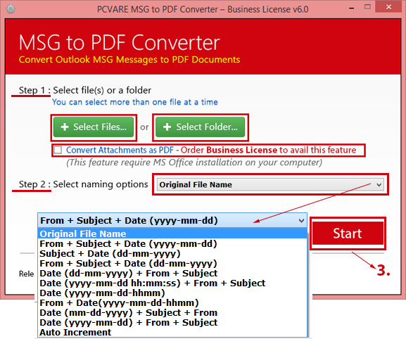 Convert multiple Emails to PDF from Outlook 6.1