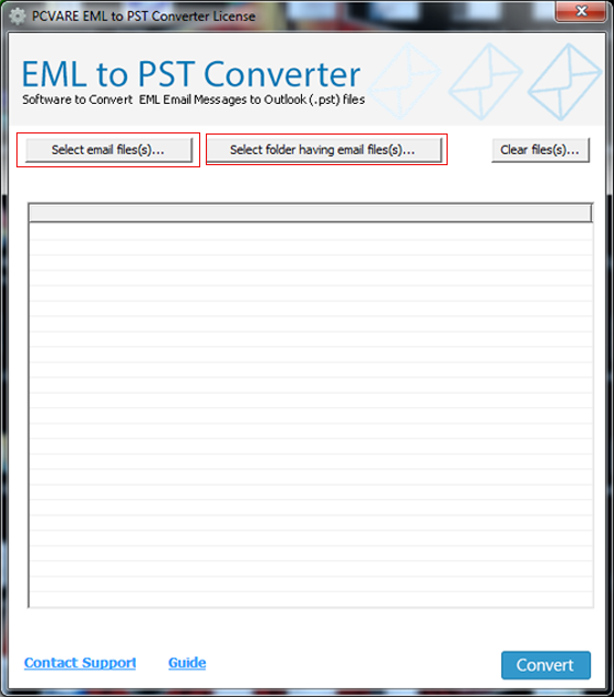 Merge Multiple EML Files to PST File