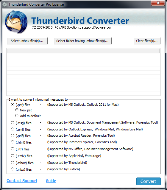 Convert Thunderbird messages to 0119;indows LIve Mail 7.4.1