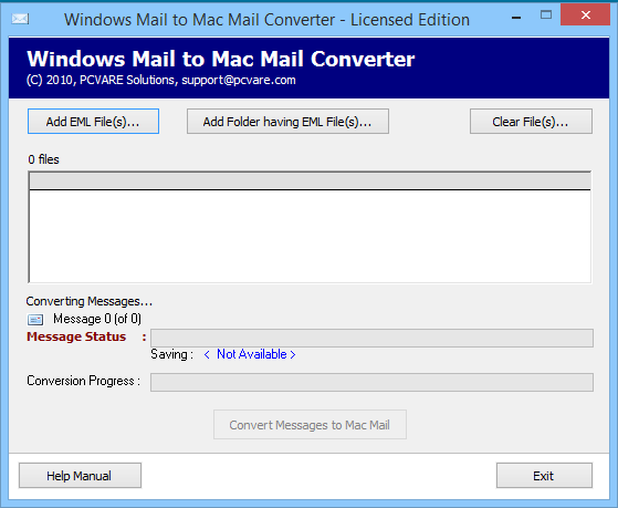 PCVARE Windows Mail to Mac Mail Converter
